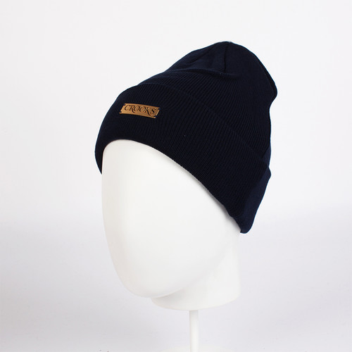 Шапка CROOKS & CASTLES Crooks Metal Badge Beanie (Navy) шапка reima baby beanie heka navy