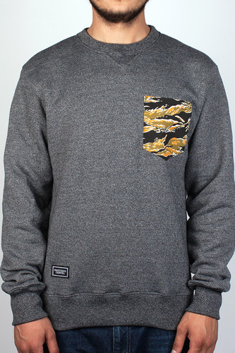 Толстовка BACKYARD CARTEL Pocket Dragon Camo Сrewneck (Dark Grey-Heather, S)