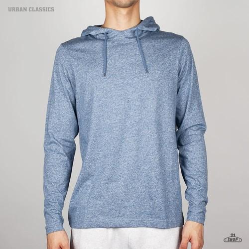 Толстовка URBAN CLASSICS Melange Jersey Hoody (Navy, M) жилетка urban classics jersey button vest turquoise grey s