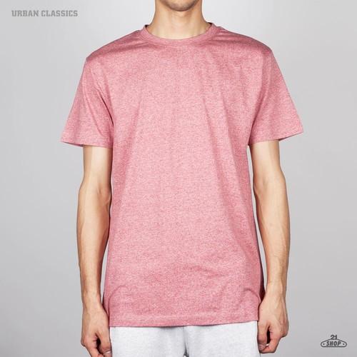 Футболка URBAN CLASSICS Melange Roundneck Tee (Ruby, XL) футболка norveg soft t shirt размер xl 673 14sw3rs 014 xl grey melange