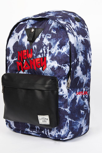 Рюкзак CAYLER & SONS New Money Downtown Backpack (Acid-Washed-Black-Red)