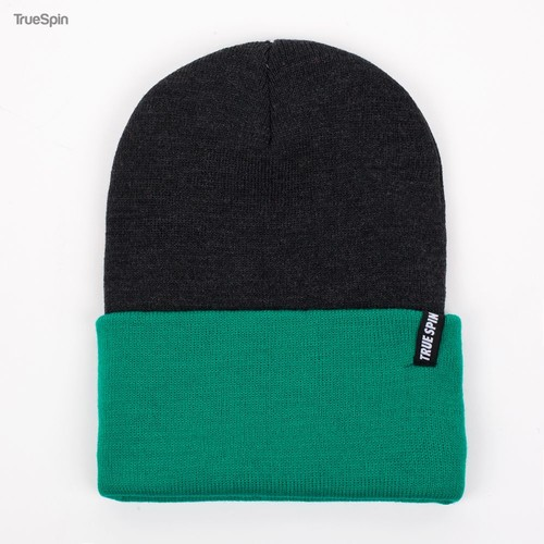 Шапка TRUESPIN Neon 2 Tone Roll Up (Dark-Grey-Mint) шапка truespin native patch fw15 heahter grey