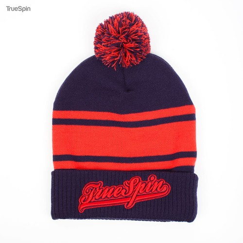 Шапка TRUESPIN Retro Font Pom (Navy-Red)