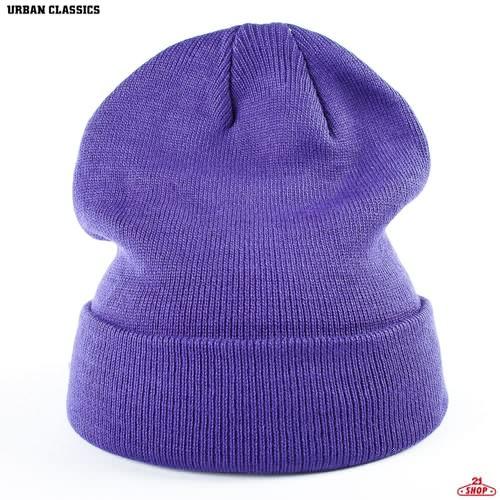 Шапка URBAN CLASSICS Flap Beanie (Purple) цена
