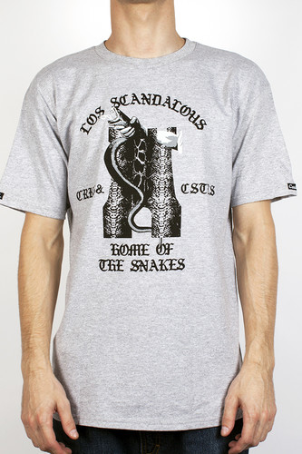 Футболка CROOKS & CASTLES Los Scandolous (Heather-Grey, XL) цена