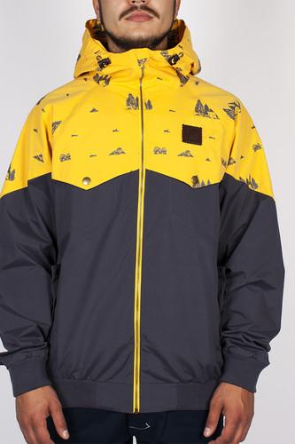 Куртка TURBOKOLOR Ewald Jacket SS14 (Graphite/Yellow Camping, L)