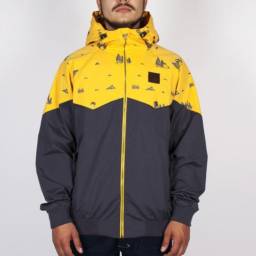 Куртка TURBOKOLOR Ewald Jacket SS14 (Graphite/Yellow Camping, L) цена 2017