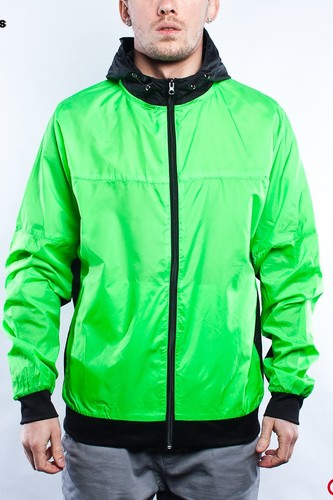 Ветровка URBAN CLASSICS Athletic Windrunner (Green/Black, S) ветровка urban classics arrow windrunner black limegreen xl