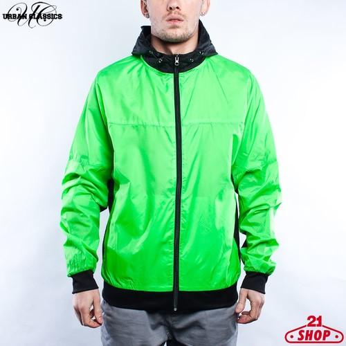 Ветровка URBAN CLASSICS Athletic Windrunner (Green/Black, S) жилет urban classics basic bubble vest red s