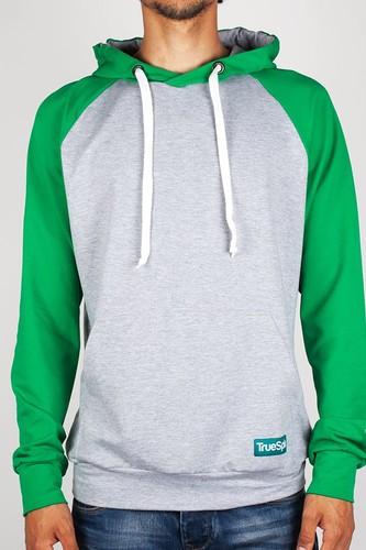 Толстовка TRUESPIN Easy Hoody (Grey-Green, L) цена