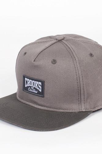Бейсболка CROOKS & CASTLES Core Logo Snapback (Cement/Gravel, O/S)