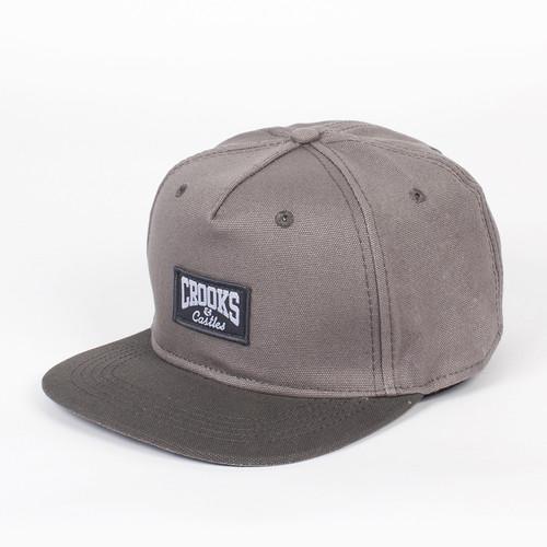 Бейсболка CROOKS & CASTLES Core Logo Snapback (Cement/Gravel, O/S) все цены