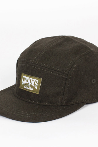 Бейсболка CROOKS & CASTLES Core Logo 5 Panel (Olive, O/S)