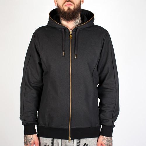 Толстовка CROOKS & CASTLES Lavish Zip Hood (Black, L) стоимость