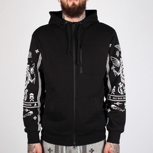 Толстовка CROOKS & CASTLES Black Order Zip Hood (Black, 2XL) стоимость