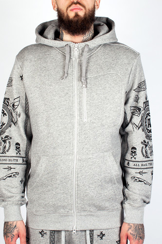 Толстовка CROOKS & CASTLES Black Order Zip Hood 2 (Speckle Grey, M)