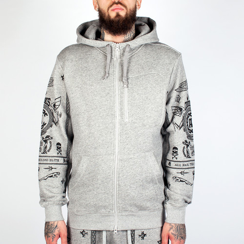 цена на Толстовка CROOKS & CASTLES Black Order Zip Hood 2 (Speckle Grey, M)