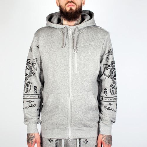 Толстовка CROOKS & CASTLES Black Order Zip Hood 2 (Speckle Grey, M) стоимость