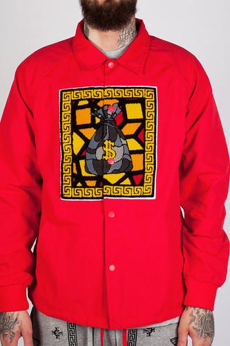 Куртка CROOKS & CASTLES Doctrine Coaches Jacket (True Red, XL)