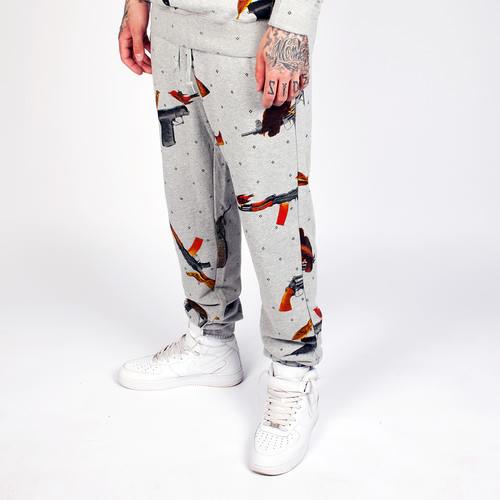 Брюки CROOKS & CASTLES Birdtrap Sweatpants (Heather Grey, XL)