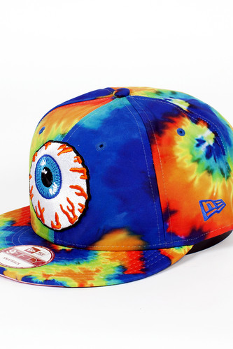Бейсболка MISHKA Keep Watch Tie Dye New Era Snapback (Lime Blue Dye, O/S)