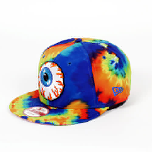 Бейсболка MISHKA Keep Watch Tie Dye New Era Snapback (Lime Blue Tie Dye, O/S) бейсболка mishka reptilian keep watch new era 5950 black 7 5 8