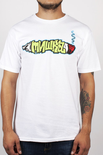 Футболка MISHKA Smoke 2 Joints Tee (White, L)