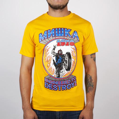 Футболка MISHKA Dare Devil Tee (Gold, L) футболка mishka epic quest tee black l