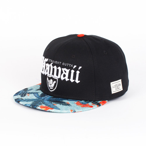 Бейсболка CAYLER & SONS Outta Hawaii Cap (Black-White-Mc, O/S) frommer s® hawaii 2007