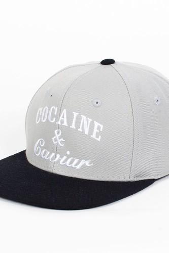 купить Бейсболка CROOKS & CASTLES Cocaine&Caviar (Grey-Black, O/S) по цене 625 рублей