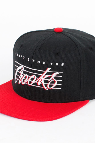 Бейсболка CROOKS & CASTLES Vintage Crooks Snapback (Black-True-Red, O/S)