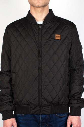 Куртка URBAN CLASSICS Diamond Quilt Nylon Jacket (Black, XL) ветровка urban classics arrow windrunner black limegreen xl