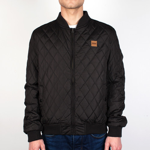 Куртка URBAN CLASSICS Diamond Quilt Nylon Jacket (Black, XL) куртка urban classics long bomber jacket black 2xl