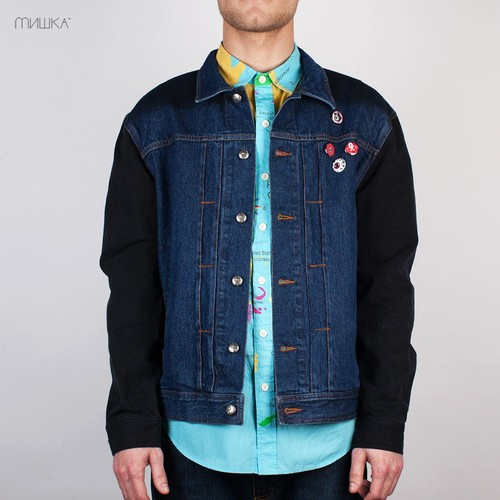 Куртка MISHKA City on Fire Denim Jacket (Indigo, L)