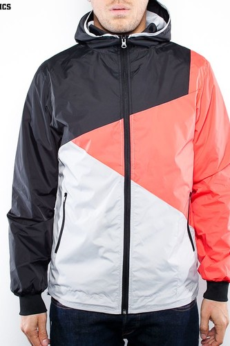 Ветровка URBAN CLASSICS Zig Zag Windrunner (Light Grey/Infra/Black, XL) ветровка urban classics arrow windrunner black limegreen xl