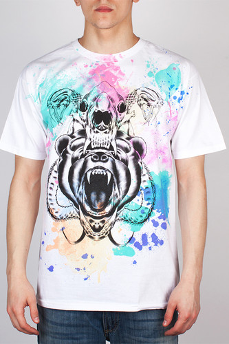 Футболка MISHKA Kidrobot D.A. Watercolor Tee (White, L)