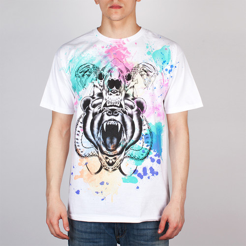 Футболка MISHKA Kidrobot D.A. Watercolor Tee (White, L) футболка mishka davy jones locker white l