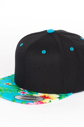 Бейсболка YUPOONG Hawaiian Snapback (Black/Aqua, O/S)
