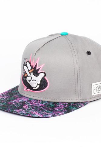 Бейсболка CAYLER & SONS Word Up Cap (Grey/Neon Pink/Mc, O/S) майка cayler