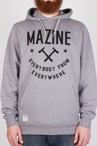 Толстовка MAZINE MRC Everybody Hoody (Mid-Grey-Melange-2223, XL) толстовка mazine tacoma light batwing hoody женская grey melange berry melange m