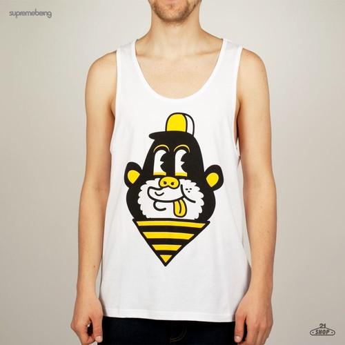 лучшая цена Майка SUPREMEBEING Vest Print Monkey (White, L)