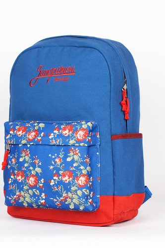 Рюкзак ЗАПОРОЖЕЦ Цветочки (Синий)