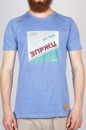 Футболка ЗАПОРОЖЕЦ ЗПРЖЦ (Blue/Melange, XL) свитер запорожец deer x helga grey blue xl