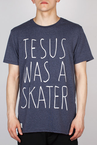 Футболка FICTION WEAR Jesus (Blue Melange, XL)
