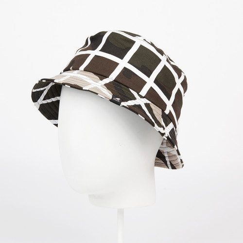 Панама KANGOL Camo Check Bucket (Camo/White, XL)