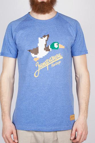 Футболка ЗАПОРОЖЕЦ Дичь 86 Бит (Blue/Melange, XL) свитер запорожец deer x helga grey blue xl
