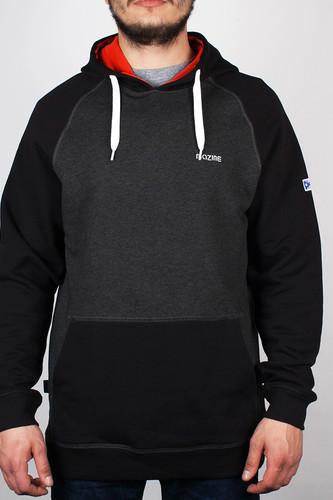 Фото - Толстовка MAZINE Male Basic Hoody (Black-Mel-Black, S) толстовка mazine male basic buttoned hoody black mel black xl