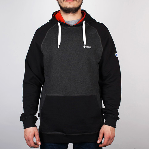 Толстовка MAZINE Male Basic Hoody (Black-Mel-Black, S) цены онлайн