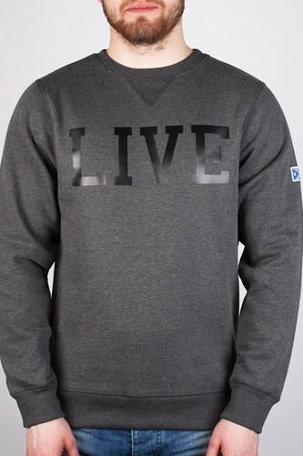 Фото - Толстовка MAZINE Live Crew Neck (Black-Mel, S) толстовка mazine male basic buttoned hoody black mel black xl