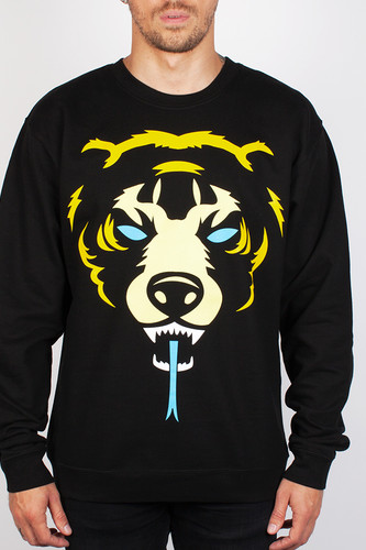 Толстовка МИШКА Oversized Death Adder Crewneck (Black, S)